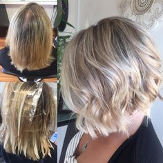 """60 Likes, 5 Comments - Brandy_YYJ (@brandy_hairstylist) on Instagram: """"Fresh pretty summer locks for Krista. We used a few babylights along the top to diffuse regrowth…"""""""