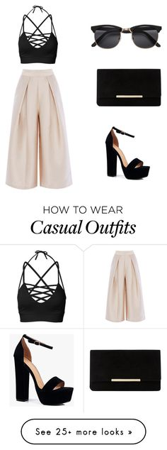 """A classy casual look!"" by holasichiama on Polyvore featuring Dune and Boohoo"