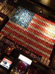 Beer Can Flag for the Garage Wall!!!