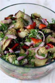 Mango & Tomato: What to do with an eggplant? Recipe for Marinated Eggplant Salad