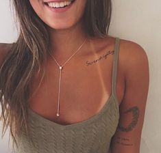 Clavicle Tattoo, Piercing Tattoo, Little Tattoos, Small Tattoos, Serendipity Tattoo, Piercings, Places For Tattoos, Delicate Tattoo, Pretty Tattoos