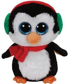 Ty Beanie Boos Glubschi Pinguin North 24 cm Glitzeraugen Glubschis schwarz in Spielzeug, Stofftiere, Bean Bags | eBay