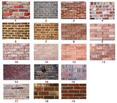 Faux brick finishes