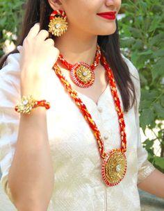 Gota Jewelry, gota patti Jewellery Set, gota patti Jewellery Set, Haldi Jewellery, Mehendi Jewellery, Indian Wedding Jewellery