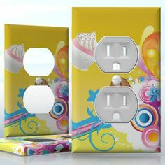 Do It Yourself Home Decor : DIY , , 1 Gang Toggle LightSwitch decal skin wrap sticker, Toggle Light Switch, Light Switch Covers, Summer Ice Cream, Ice Cream Cookies, Do It Yourself Home, Plates On Wall, Decals, Wraps, How To Apply