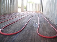 Radiant heat why didn't i think of that? - #shippingcontainer #containerhome #shippingcontainer