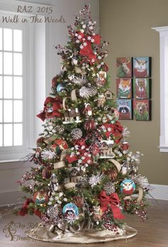 RAZ 2015 Walk in the Wood Christmas tree, visit http://www.trendytree.com for RAZ Christmas decorations