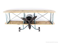 Wandregal Flugzeug Metall Doppeldecker Regal Blechflugzeug wall shelf aircraft | eBay
