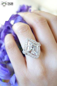 Stunning 4 carat Modern Cut Marquise with by TigerGemstones, $109.99