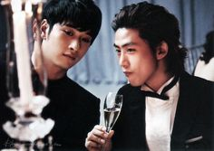 """[OFFICIAL] 2PM's TAECYEON & CHANSUNG – Marie Claire, """"PARTY ON! – Busan IFF Best Dressed"""", November 2012 ⓒtaec123 via W2D http://wild2day.org"""
