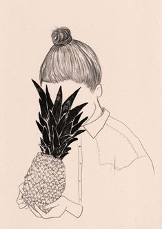 "I like this illustration simply because it's odd and ""playfully awkward"", just like me. I also really like pineapples - they're my favorite fruit."