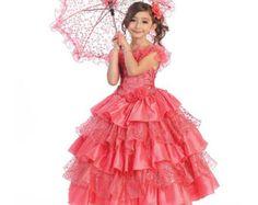 Princess Cinderella Ruffly Dress with by GirlyPrincessShop on Etsy