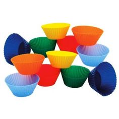 Amazon.com: Kitchen Supply 2373 1-7/8-Inch Mini Muffin Silicone Baking Cups, Set of 12+: Kitchen & Dining