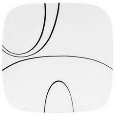 "CORELLE 1069986 Square Simple Lines 10-1/4"" Dinner Plate   #Corelle"