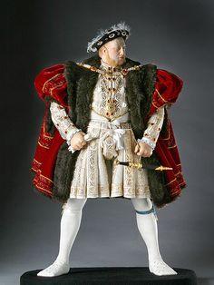 About Henry VIII, Henry Tudor, from Renaissance and Reformation, a full length portrait by artist and historian George Stuart. Renaissance, Historical Costume, Historical Clothing, Historical Photos, Moda Fashion, Fashion Dolls, Henri Viii, Dinastia Tudor, Enrique Viii