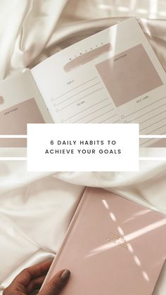 6 Daily Habits For Success And Accomplishing Goals Passion Planner, Goals Planner, Life Planner, Sermon Notes, Academic Planner, Girl Boss Quotes, Stationary Set, Study Hard, Successful Women