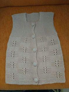 Bridal Vest Making Knitting Patterns Boys, Baby Cardigan Knitting Pattern, Crochet Poncho Patterns, Easy Knitting Patterns, Vest Pattern, Knitting For Kids, Knitting Designs, Baby Knitting, Kids Dress Wear