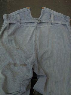 cir.1930 - 1950's stripped work pants - ヨーロッパ古着店 「Mindbenders」