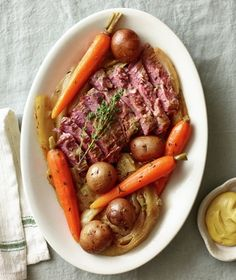 Drop all of the ingredients into the slow cooker for a traditional one-pot Irish meal. Get the recipe for Slow-Cooker Corned Beef and Cabbage.