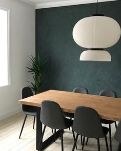 DIY Home Decor, wonderfully simple to vibrant strategies to thrill one's creative brain cells, post number 5821873707 - Superb help. classy home decor diy snug image produced on this day 20190629 Dining Room Feature Wall, Green Dining Room, Dining Room Walls, Dining Chairs, Living Room, Green Accent Walls, Dark Green Walls, Accent Wall Colors, Feature Wall Design