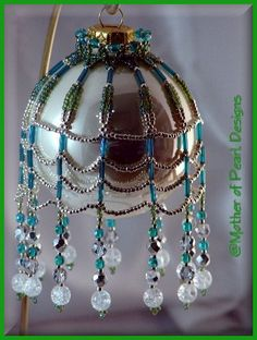 Mother of Pearl Designs - Beaded and Original Christmas Ornaments & Ornament Covers