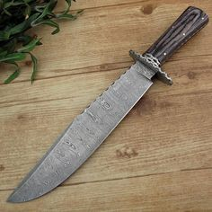 Jacob Smith's Custom Handmade Damascus Bowie Knife