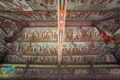Langit-langit Bale Kambang dengan lukisan wayang khas Desa Kamasan yang menggambarkan kisah kepahlawanan Sutasoma. Buy Domain, Wallpaper Backgrounds, Bali, City Photo, Architecture, Interior, Arquitetura, Design Interiors, Interiors