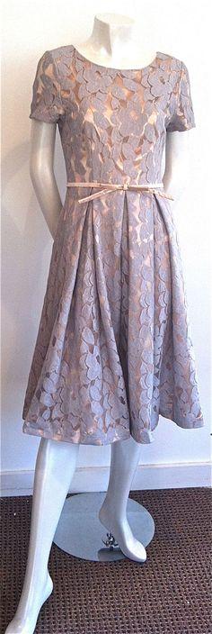 Mikarose grey lace dress at Designer Garage Boutique only $99!