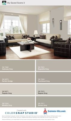 10 Inspired Tips: Interior Painting Schemes Warm interior painting living room mirror.Interior Painting Benjamin Moore i. Modern Color Schemes, Living Room Color Schemes, Living Room Colors, Colour Combinations Interior, Interior Paint Colors For Living Room, Living Rooms, Paint Colors For Home, House Colors, Paint Colours