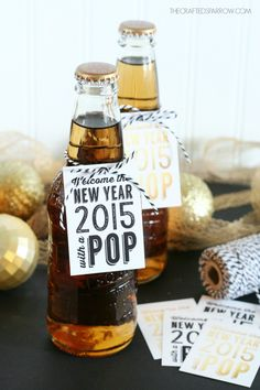 Hy Holidays New Years Free Printable Tags
