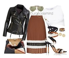 """Wood grain"" by bourgeoisiemind on Polyvore featuring Ray-Ban, Topshop, Gianvito Rossi, Fendi, Chico's and Tory Burch"
