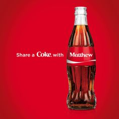 Share a Coke – Customize and Personalize Coke Bottles with Names.
