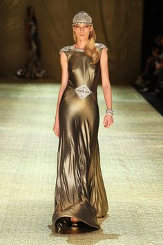 Gold Wedding Dress by Johanna Johnson