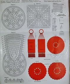 jogo de banheiro cem crochê circular com gráfico