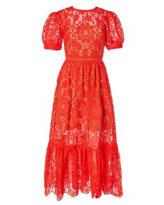 Calf Length Dress, Mid Length Dresses, Short Sleeve Dresses, Short Sleeves, Puff Sleeves, Blue Midi Dress, Sheer Dress, Dress Red, Designer Cocktail Dress