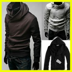 Slim Fit Hoody Jacket Coat Outwear Boy 4 Colors | eBay #mensapparel