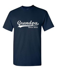 Grandpa Established 2013 Customized With Your by HarplynDesigns