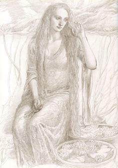 alan lee drawing - Goldberry, The Lord of the Rings