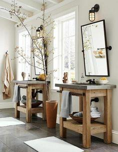 Holz Waschtisch Betonplatte Mehr