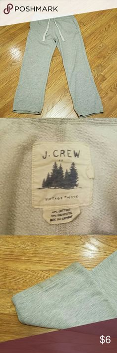 J Crew Sweatpants Gently loved. 60% cotton 40% polyester.  Mild wear at bottom of pants where the dragged the floor. J. Crew Pants Sweatpants & Joggers