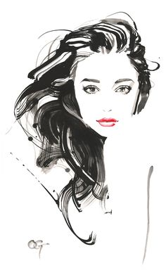 Fashion Illustration Face, Portrait Illustration, Watercolor Illustration, Illustrations Posters, Watercolor Face, Watercolor Fashion, Watercolor Portraits, Watercolor Trees, Watercolor Painting