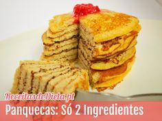 Panquecas de banana com apenas 2 ingredientes #dieta #receita #fitness
