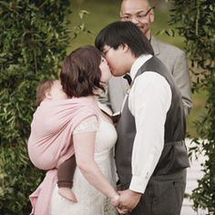 maybe the most adorable wedding ceremony photo ever.