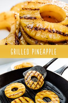BBQ chicken, burgers, pork chops and ice cream taste better with juicy grilled pineapple slices! We know you'll agree. Grilling Recipes, Gourmet Recipes, Cooking Recipes, Healthy Recipes, Kabob Recipes, Grilling Tips, Picnic Recipes, Fruit Recipes, Healthy Nutrition