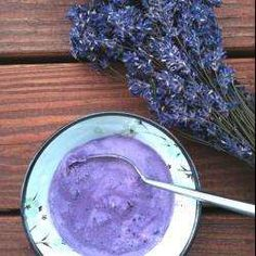 This paleo friendly blueberry and lavender ice cream is incredibly vibrant and tastes delicious. A wonderful healthy alternative to regular ice cream, especially during the summer months when you can gather your own lavender and blueberries. Paleo Ice Cream, Blueberry Ice Cream, Pistachio Ice Cream, Ice Cream Recipes, Lavender Ice Cream, Lavender Syrup, Parfait, Best Edibles, Lavender Recipes