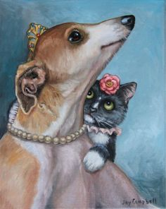 Joy Campbell | OIL | Princess and Friend