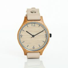 Bamboo Single Strap Watch Beige