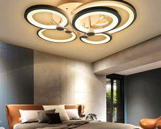 Zen Freesia - Modern LED Ceiling Chandelier Price: 4352.00 & FREE Shipping #interiordesign Ceiling Chandelier, Led Ceiling, Light Installation, Black Rings, Downlights, Modern Bedroom, Bed Room, Light Colors, Free
