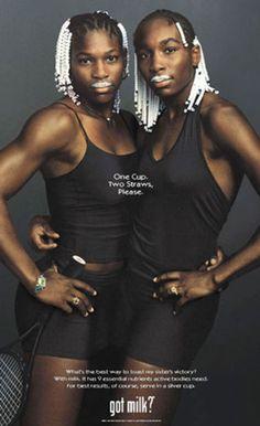 Serena and Venus Williams in 1990s, Got milk? Ads, Vintage