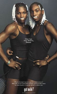 Serena and Venus Williams in 1990s, def had this cut out and on my wall!
